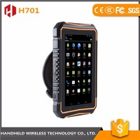 Latest new model 7intch rugged handheld wireless H701 ip 65 android 4.4.2 gps rfid reader