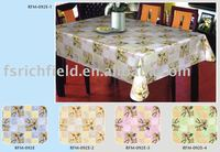 PVC table cloth with flannel backing