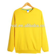 OEM wholesale man sweatshirt plain yellow cheap hoodies high neck hoodies