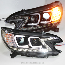 2012 year For CRV LED Head Light Projector Lens Angel Eyes C Type TLZV1