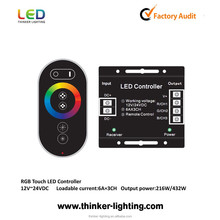 DC 12V led strip light 6keys RGB led controller with colorful package