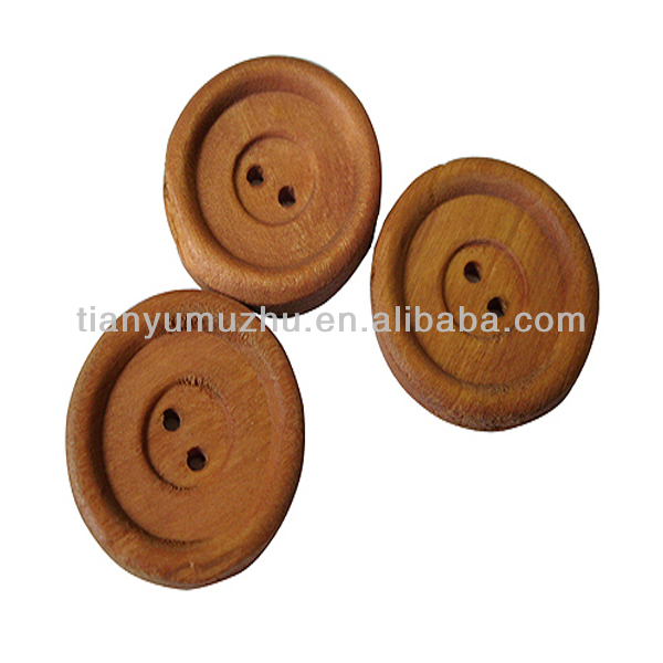large decorative designer wooden coat buttons