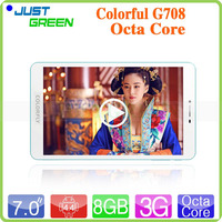 2016 new Colorfly 7 inch MTK6592 Octa Cores 3G phone call tablet pc Support GPS 1GB 8GB SIM Android 4.4 tablet pc