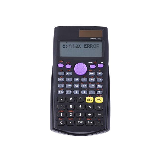Solar Power 2 Line 10 Digits 240 Function Students Scientific Calculator