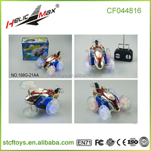 Hot Selling 4 Channel Battery Power 360 Degree Spinning Remote Control Car With White Wheel