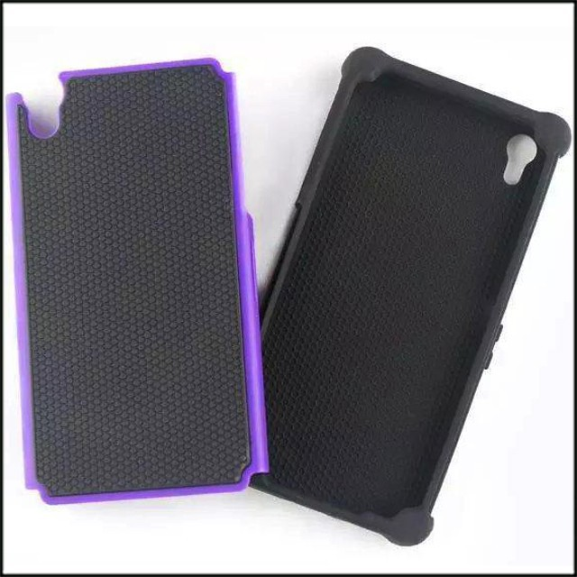 PC+silicone football pattern mobile phone cover for Sony Z3 case factory sell