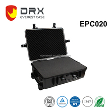 ABS electronic plastic equipment box hard case with wheels