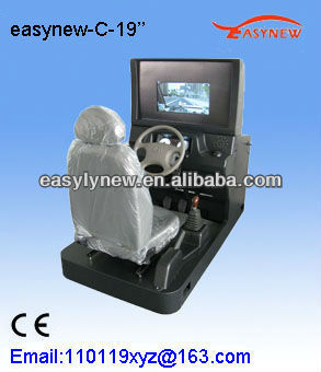 Right hand and left hand automobile driving simulator