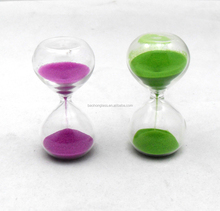 Novelty 5 Minute Mini Glass Color Sand Hourglass For Gift