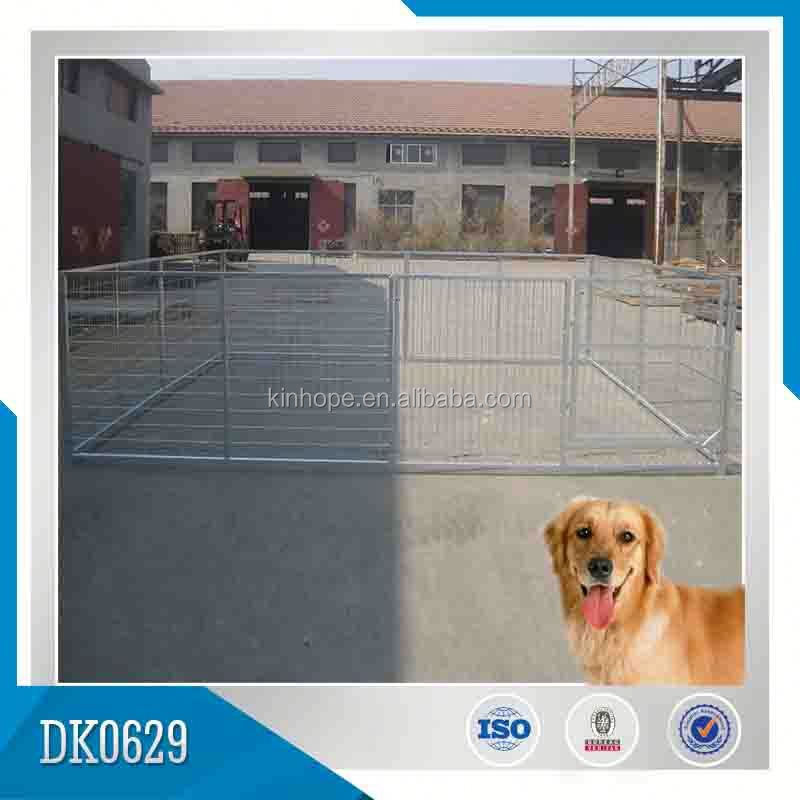 High Quality Outdoor Galvanized Iron Fence Dog Kennel