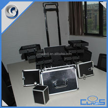 MLD-TC215 Professional Fashion Trays Make-up Rolling Wheeled Aluminum Fight Trolley Luggage Box Bag