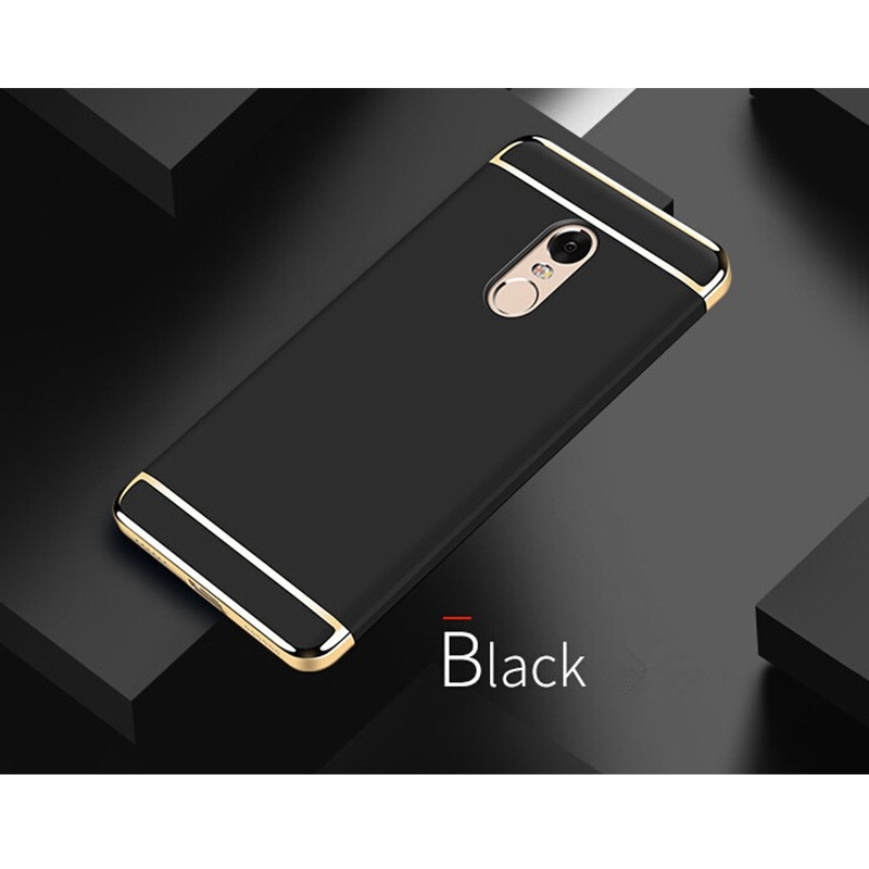 for Redmi Note 4 armor case, electroplated slim matte PC case