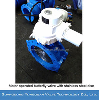 "Motor Drive Double Eccentric Flanged Butterfly Valve with Stainless Steel Disc, DN 8""-120"", PN 1.0/1.6/2.5 MPa"