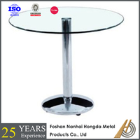 Tokyo Glass Round Space Saver Dining Table