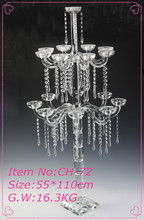Tall Crystal Candle Stand Wedding For Party Decorations