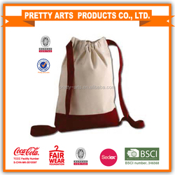 soft cloth canvas drawstring bag for kids