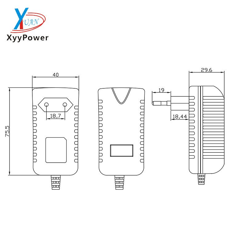 high quality portable mobile phone charger with the output of 9V 2A power adapter for cell phone battery