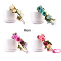European and American parent-child headdress wreath seaside holiday simulation flower headband hair band wholesale hot first flo