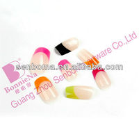 2013 New French Nails colored french tip nail designs