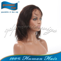 Top quality 100% Brazilian virgin hair full lace wigs natural color straight hair for black women
