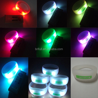 cheap LED radio controlled silicone wristband for big events