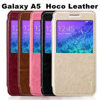 Original HOCO Case PU Leather Flip Cover Holder Stand Mobile Phone Bag For Samsung Galaxy A5