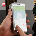 2016 New Arrive Luxury Plating Touch Sensitive Clear View Smart Flip Mirror Case for Samsung Galaxy A5