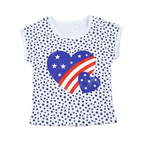 Childrens Boutique Clothing 2017 kaiyo Baby patriotic shirts With Heart And Start Outfits Baby Girl Clothes