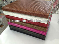 2013 new design grass mat stand leather case for new ipad