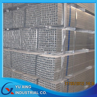 gi square rectangular pipe / hdg shs steel guiding tubes cold drawn 4 inch galvanized square steel pipe