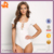 2017 Hot Sale Woman's Fashion Ivory Ribbed Knit Lace Up Bodysuit