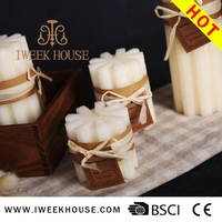 Hot sale funeral decoration jiaxing faux plain white candle