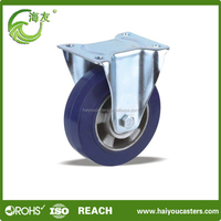 Aluminum iron Core Solid Rubber Wheel With Plastic Hub