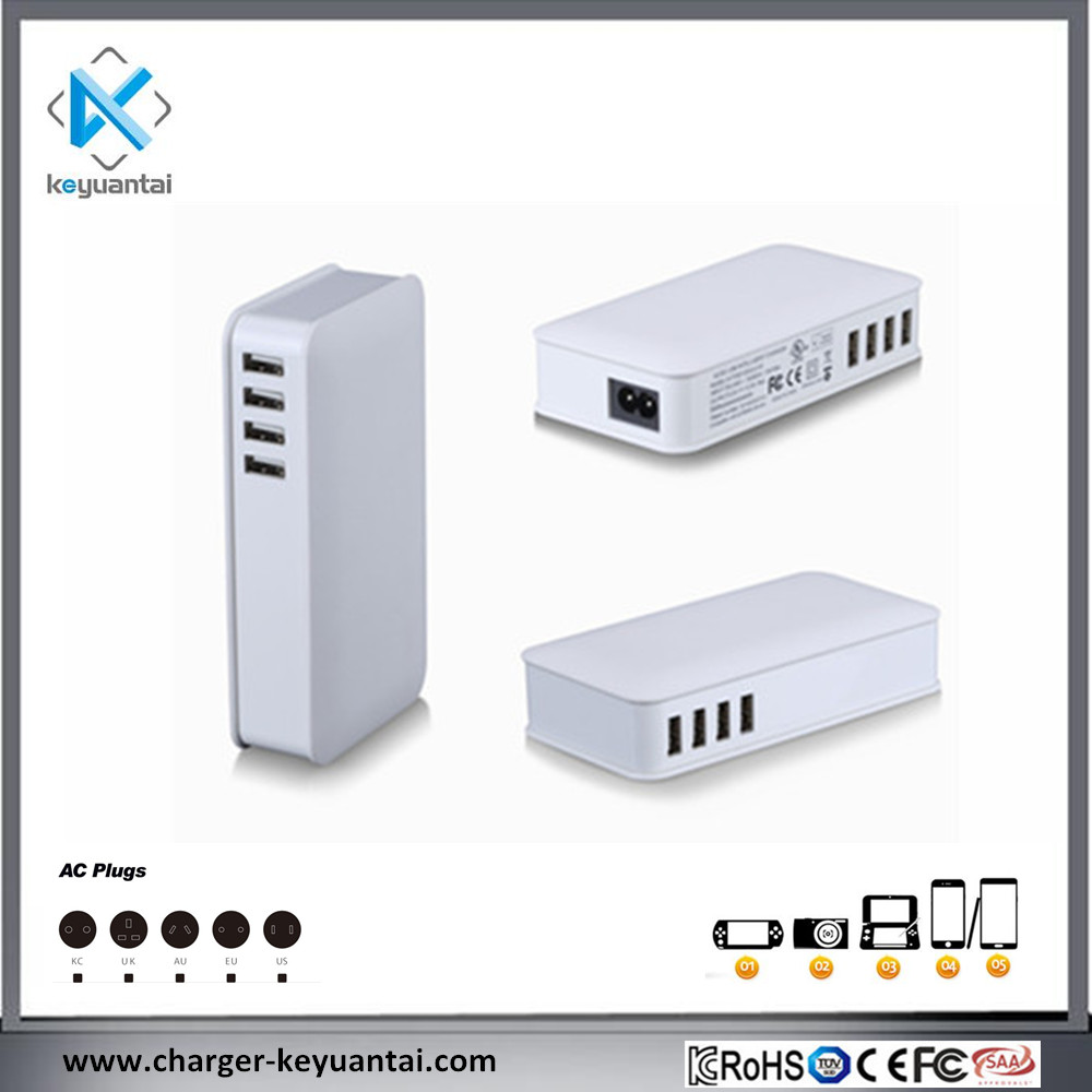 50W Power 8 Port Usb Charger Home/Office Charging Station with Smart IC