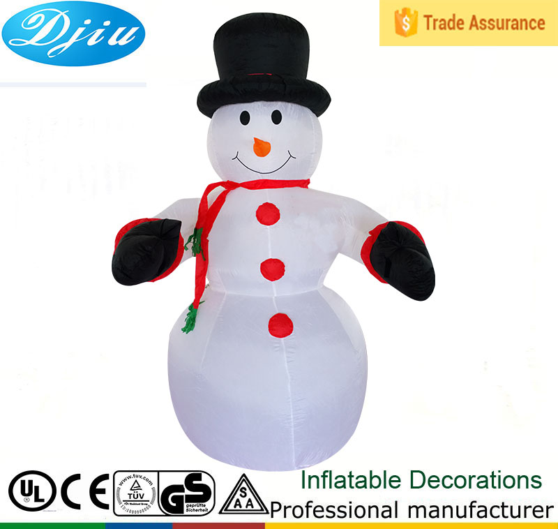 DJ-XT-95 new giant smile gentleman snowman wear scarf shopping decoration