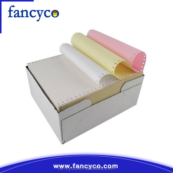 Colored self carbonless copy paper