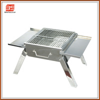 Folding Stainless Steel Charcoal BBQ Grill, Portable Outdoor BBQ Grill for Home and Party Use