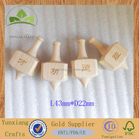 four faces square wooden hand spinning top peg-top