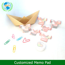 2017 Wholesale T-shirt Shaped custom die cut sticky notes ,Sticky Memo Pad