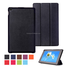Top Selling Durable Three Folding Flip PU Leather Tablet case For 2015 Amazon New Fire HD 8 fast delivery