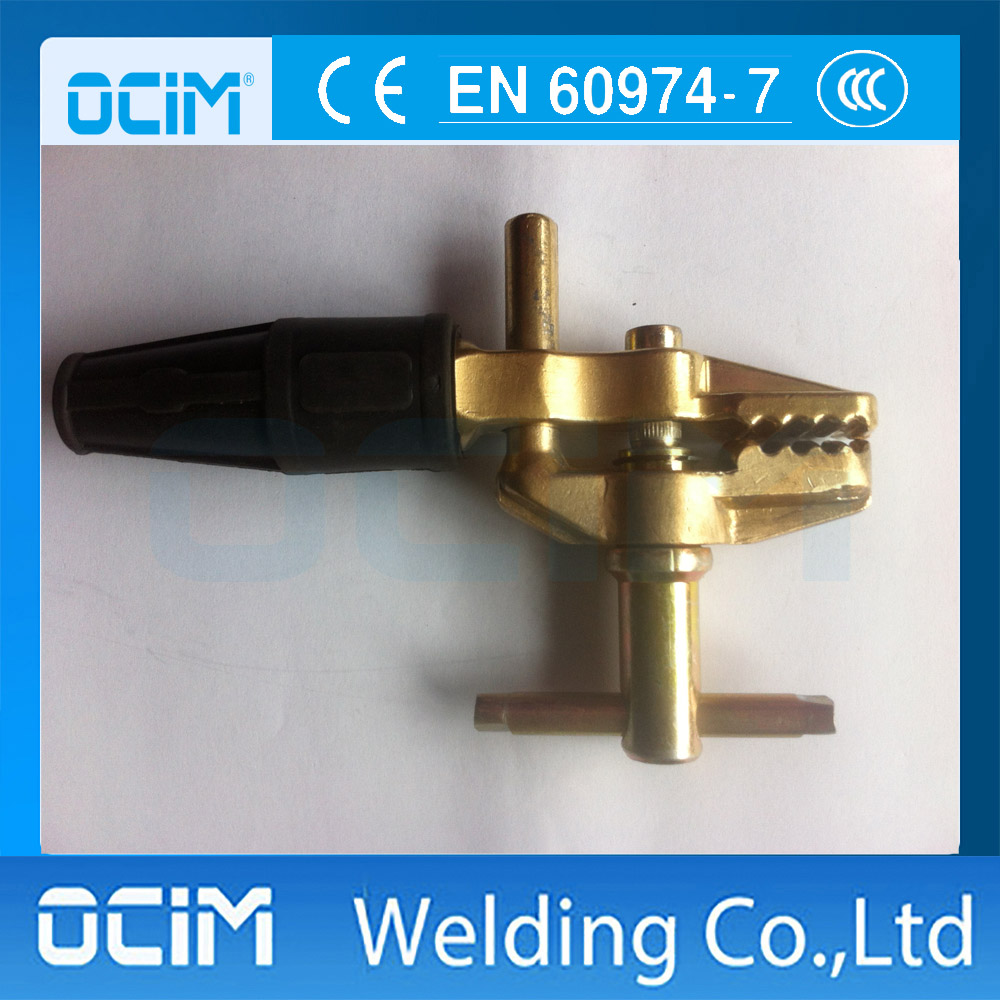 British Type Welding Earth Clamp With Bronze Upper and Lower Jaw