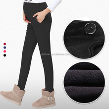 Pregnant women pants, high-waisted pants, thick warm pants