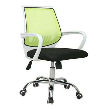 Fabric padded swivel office chair