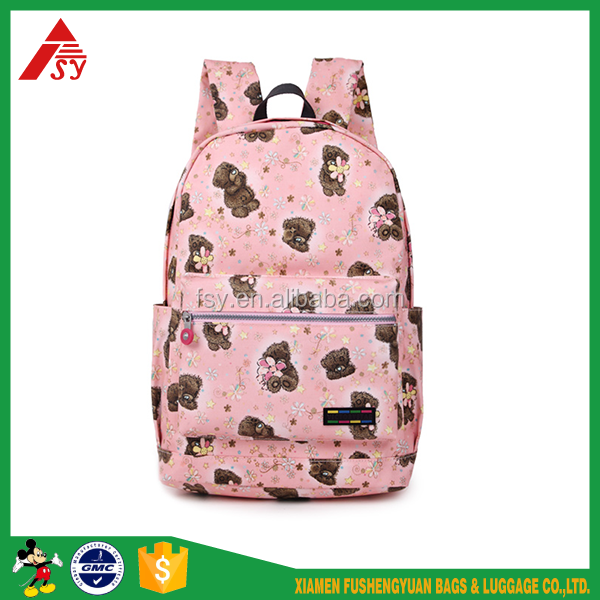 Best selling animal child sublimation school backpack bag for girls