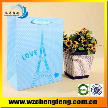 2015 New Luxury Shopping Paper Bag for gift