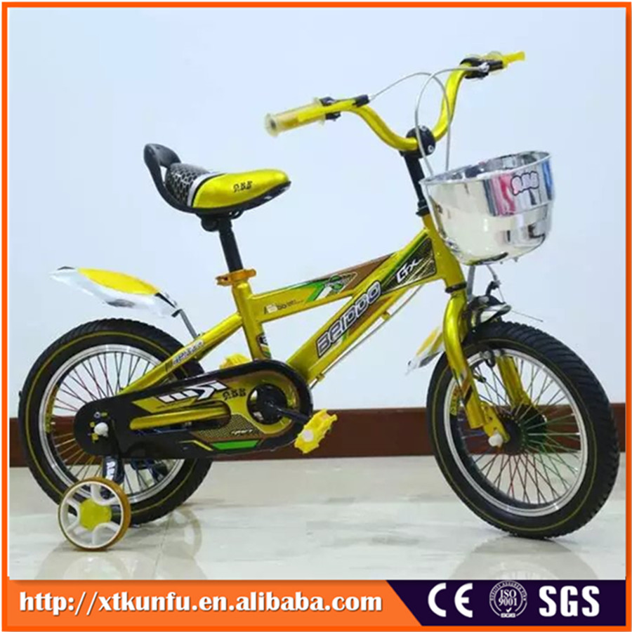BMX TYPE one piece crank children bike with auxiliary wheels