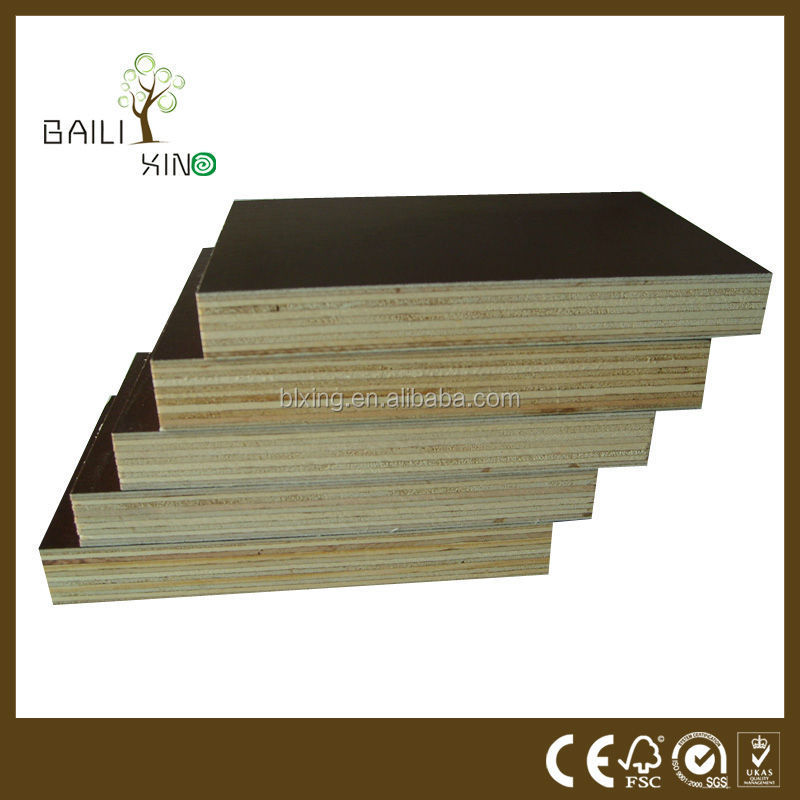pvc fence wood grain 1220*2440mm dynea shuterring plywood Marine Plywood