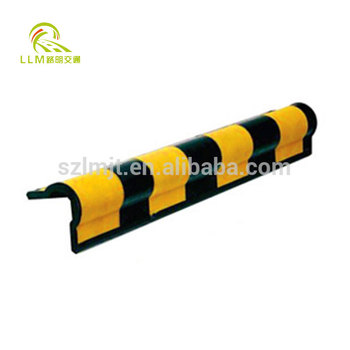 Rubber Column corner guard, parking right angle reflective wall protector guard