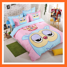 peppa pig fabric designs bed sheet bedding sets China supplier