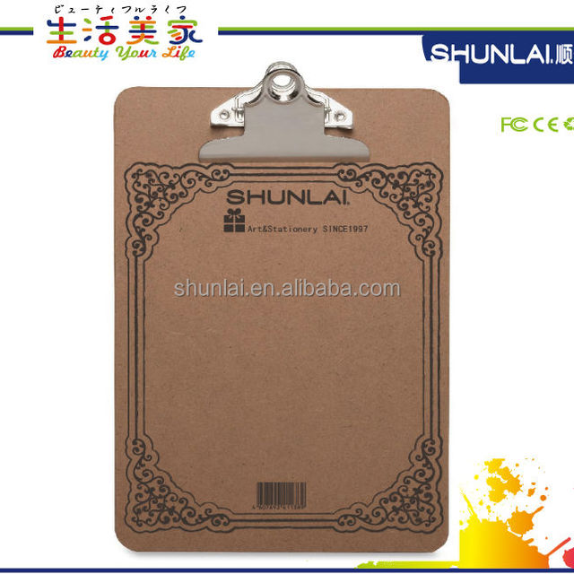 A4 size wooden Clip paper board